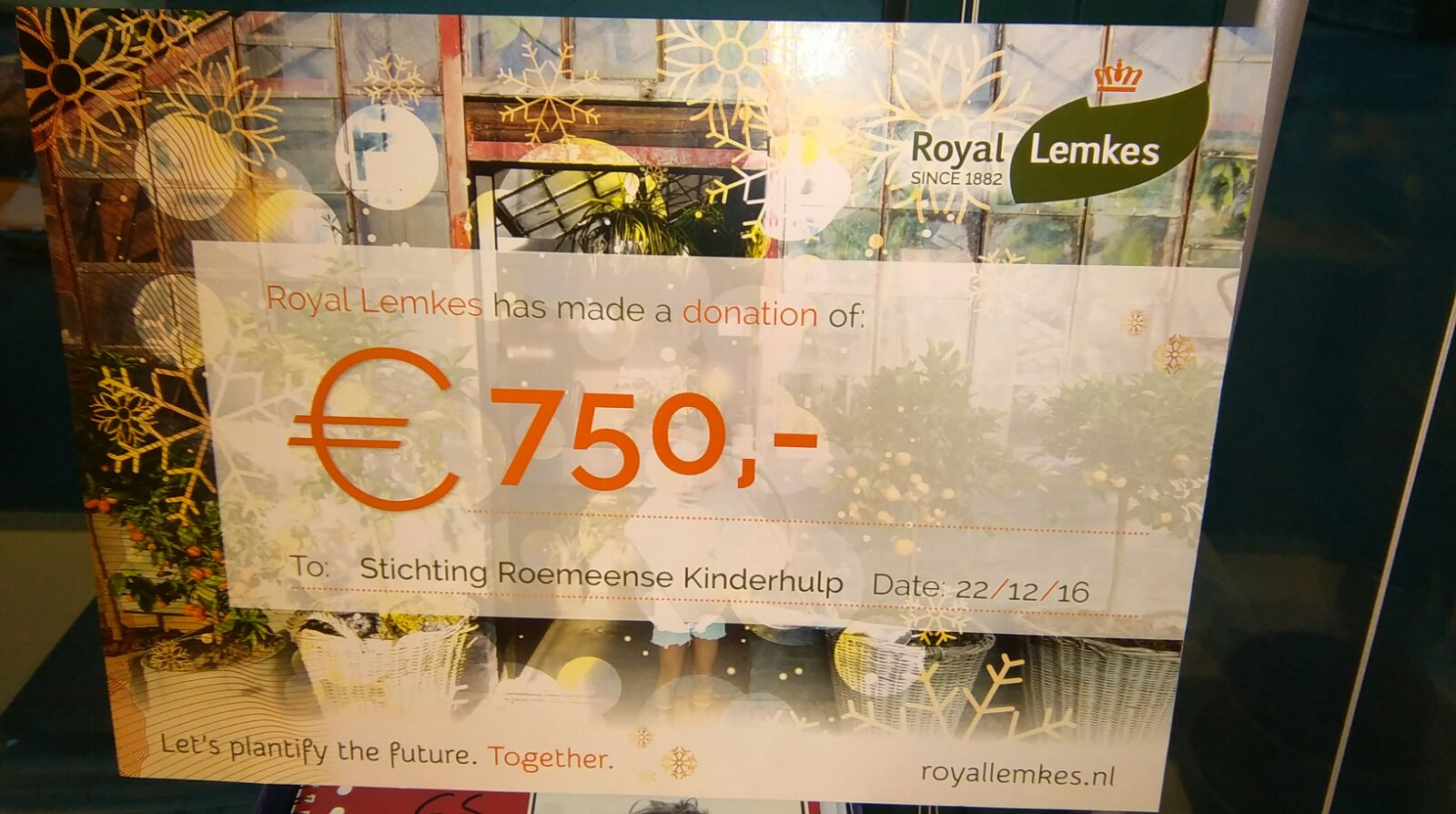 Royal Lemkes cheque